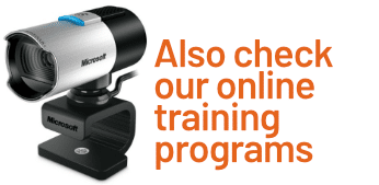 Banner: Check our online training programs